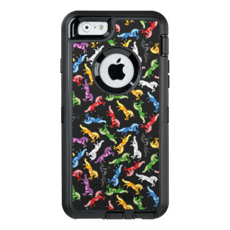 Colored Pattern Unicorn OtterBox Defender iPhone Case