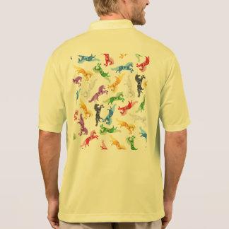 Colored Pattern Unicorn Polo Shirt