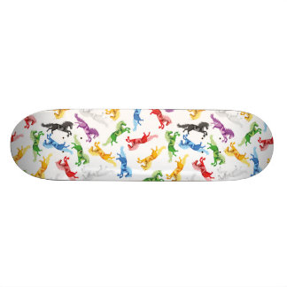 Colored Pattern Unicorn Skate Board Deck