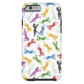 Colored Pattern Unicorn Tough iPhone 6 Case
