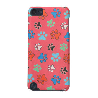 Colored Paw Prints iPod Touch Case