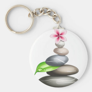 Colored pebbles key ring