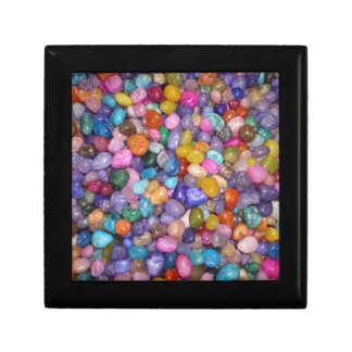 COLORED PEBBLES SMALL SQUARE GIFT BOX