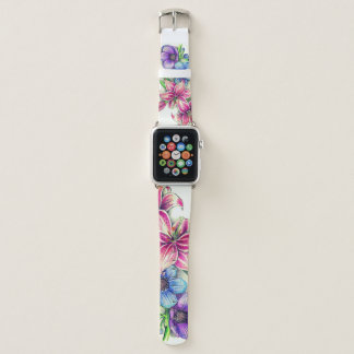 Colored Pencil Flower Drawing Apple Watch Band