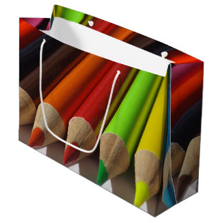Colored Pencil Tips Large Gift Bag