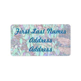 Colored Pencil Tree Leaves Address Label