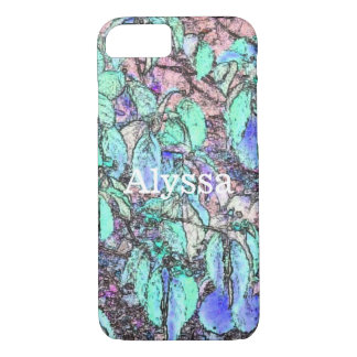 Colored Pencil Tree Leaves Personalized Case
