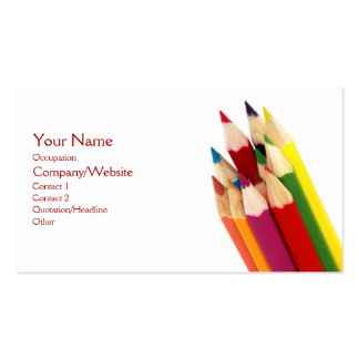 Colored Pencils Double-Sided Standard Business Cards (Pack Of 100)