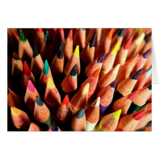 Colored Pencils Greeting Card