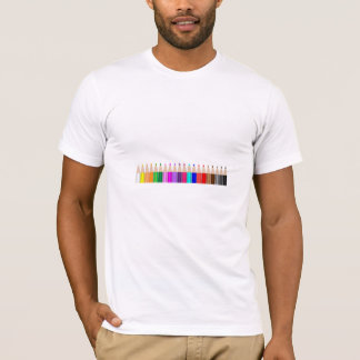 Colored pencils in a row T-Shirt