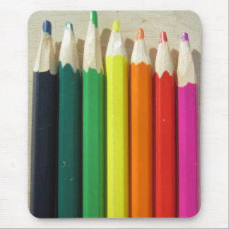 Colored pencils rainbow mouse pad