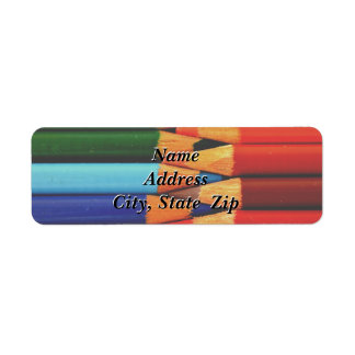 Colored Pencils Return Address Label