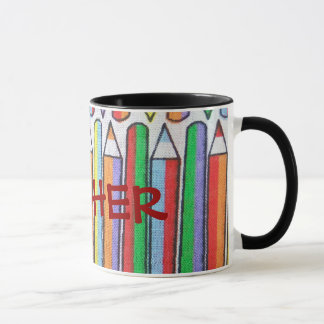 Colored Pencils Teacher's Personalized Mug