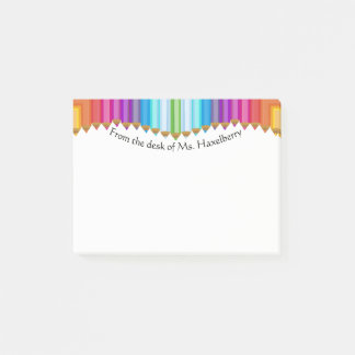 Colored Pencils Teachers Personalized Note Pad