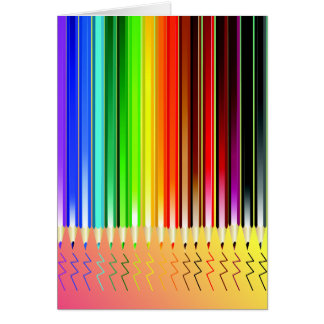 Colored Pencils Writing Card