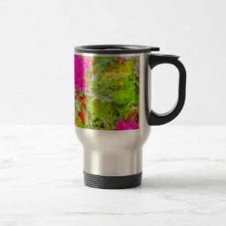 Colored Plants Photo Travel Mug