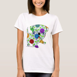 Colored Pug Puppy T-Shirt