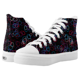 Colored Rings Printed Shoes