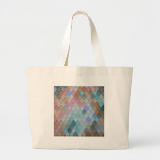 Colored Roof Tiles - PaintingZ Large Tote Bag