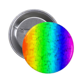 Colored Screen Rainbow Pinback Button