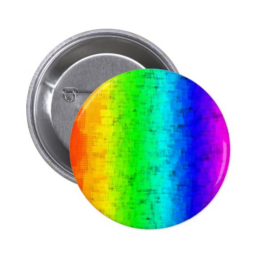 Colored Screen Rainbow Pinback Button