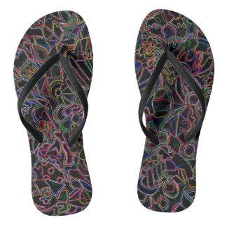 Colored Shapes Flip Flops