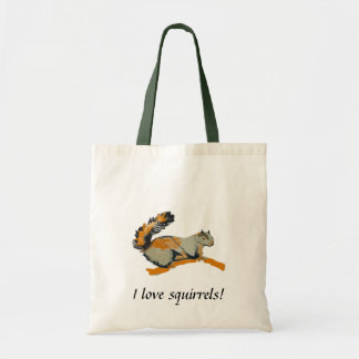 Colored sketch of a Gray Squirrel Tote Bag