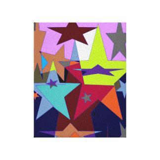 colored stars canvas print