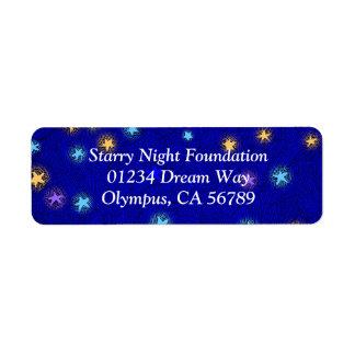 Colored Stars Etching Custom Return Address Label