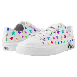Colored Stars Womens Shoes Printed Shoes
