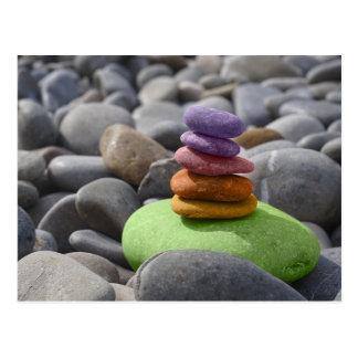 Colored stones postcard