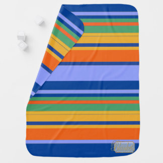 Colored Striped Decorative Boy Baby Blanket