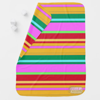 Colored Striped Decorative Girl Baby Blanket