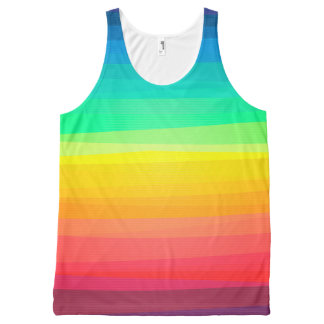 Colored Stripes Background All-Over Print Tank Top