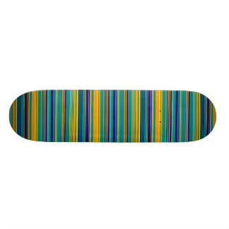 Colored Stripes Custom Skate Board