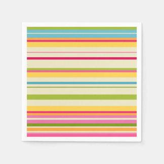 Colored Stripes Disposable Serviettes