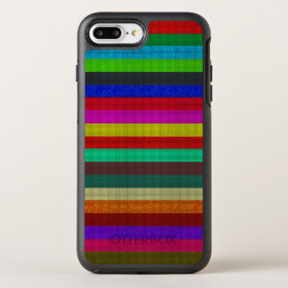 Colored stripes tile texture OtterBox symmetry iPhone 7 plus case