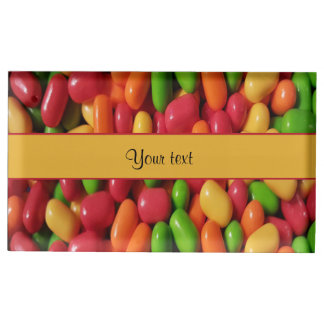 Colored Sweet Candy Table Card Holders