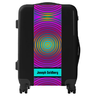 Colored Target Rings + your beckgr. & Name Luggage