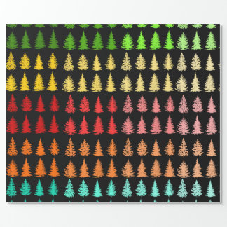 Colored Trees Wrapping Paper