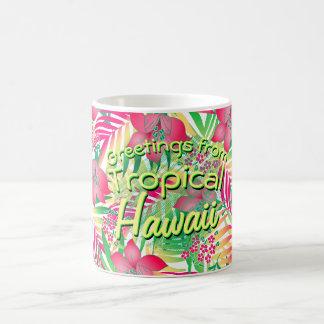 Colored tropical flowers coffee mug