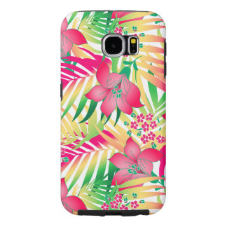 Colored tropical flowers samsung galaxy s6 cases