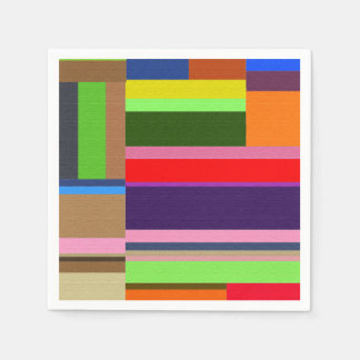 Colored tulip fields paper napkin