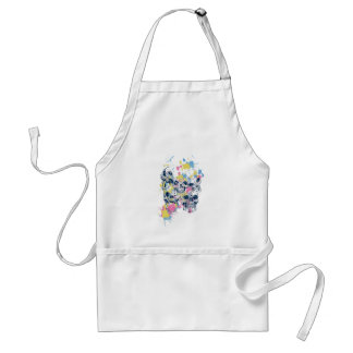 colored vintage skulls standard apron