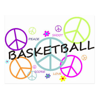 coloredpeacesignsBASKETBALL-10x10. Postcard