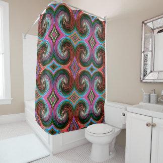 Colorfu Abstract Swirl Pattern #5 Shower Curtain