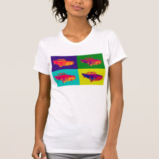 Colorful1965 Ford Mustang Convertible Pop Art Shirts