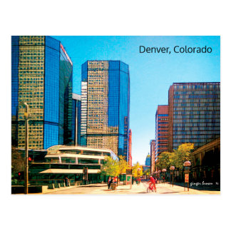 Colorful 16th Street Mall, Downtown Denver, CO Postcard