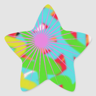 colorful 1740 abstract art star sticker