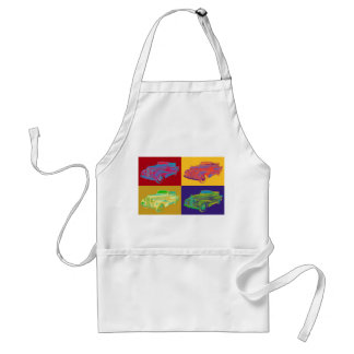 Colorful 1938 Cadillac Lasalle Pop Art Adult Apron